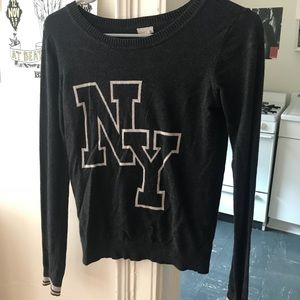 Black Fitted NY Sweater